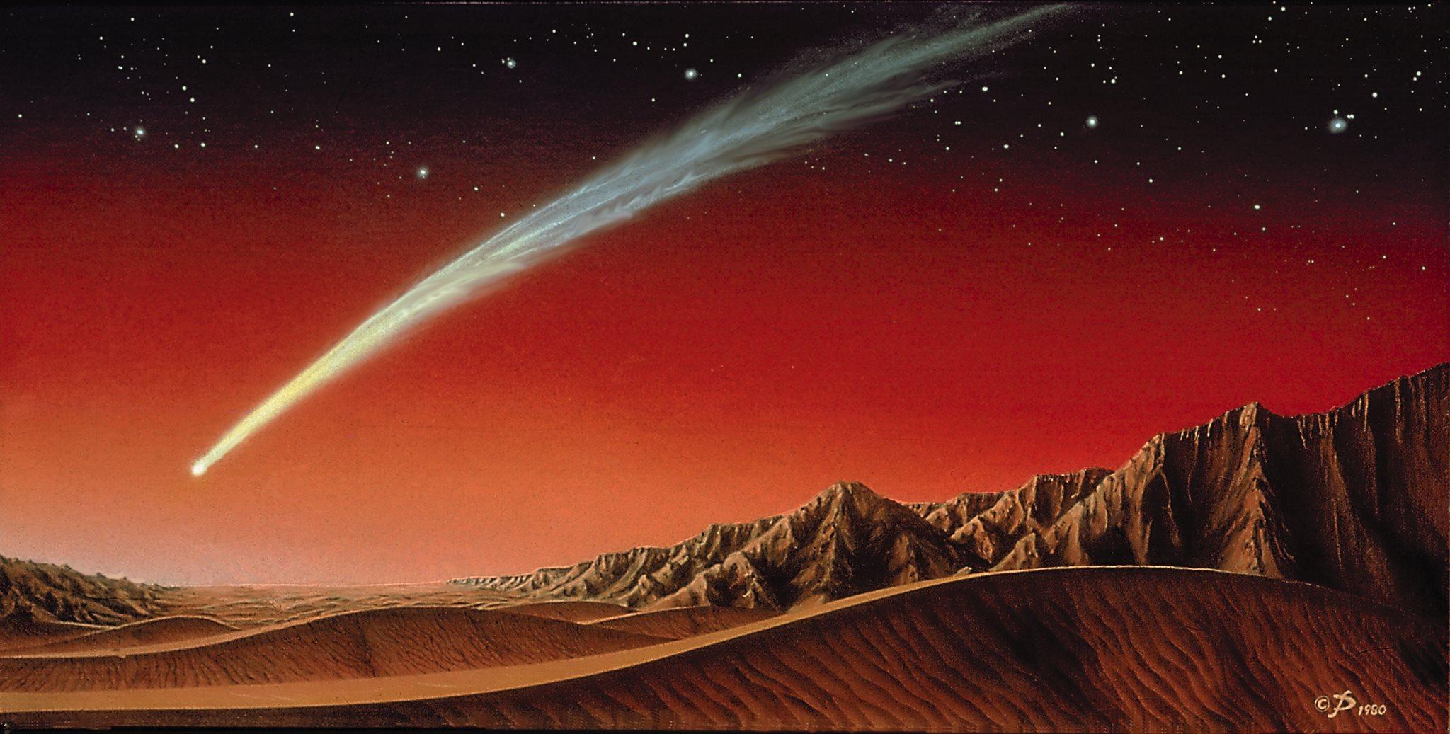 Comet_over_Mars