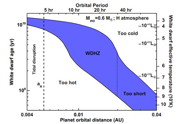 White dwarf Hab-Zone