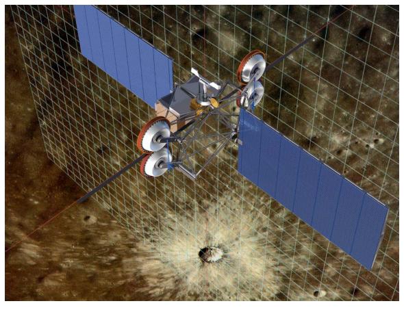 Lunar Space elevator concept